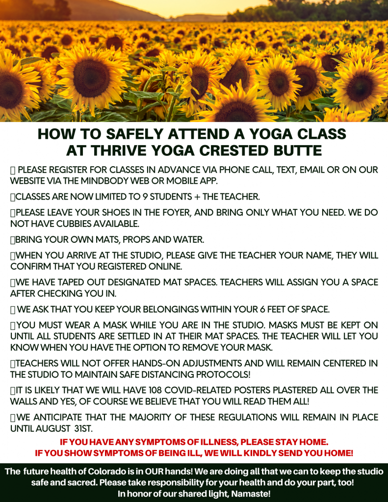how to safely attend yoga classes