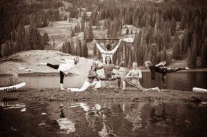 yogis at lake Irwin